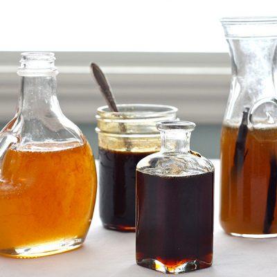 Aromatized syrups